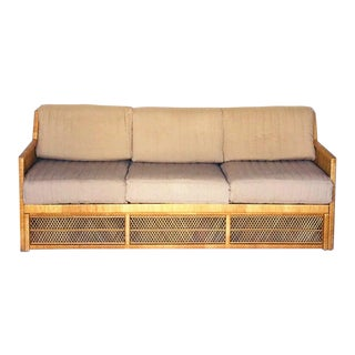 Vintage Rattan 3 Seater Sofa For Sale