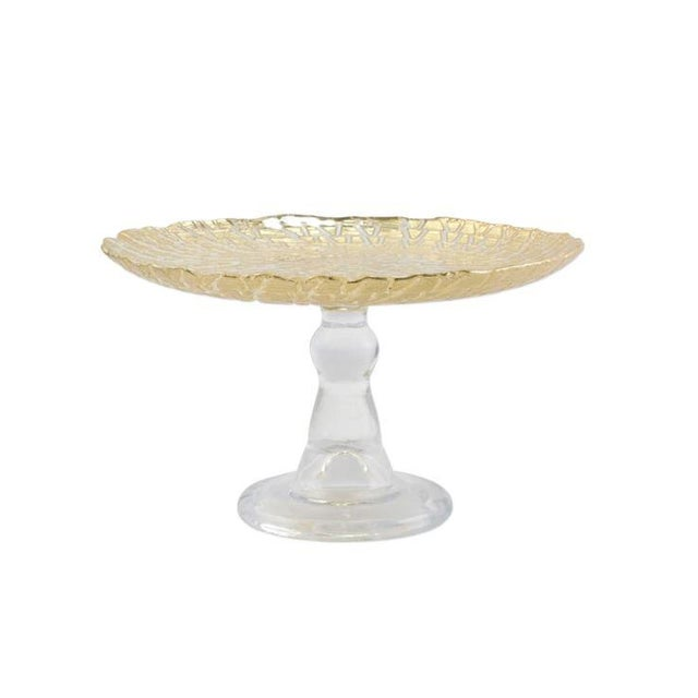 Kenneth Ludwig Chicago Kenneth Ludwig Chicago Rufolo Gold Cake Stand For Sale - Image 4 of 4