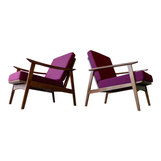Mid-Century Modern Lounge Chairs - A Pair - Image 1 of 7