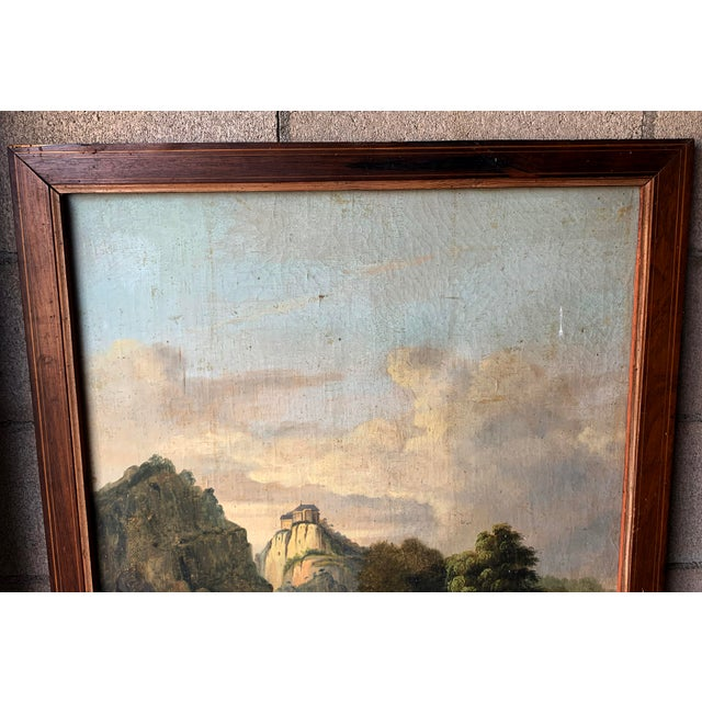French Trumeau Mirror With Idyllic Pastoral Landscape For Sale In Denver - Image 6 of 12
