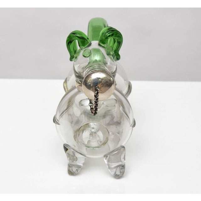 Dual Tone Glass Dog Decanter - Image 4 of 9