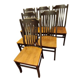 Amish Built Dining Room Chairs - Set of 6 For Sale