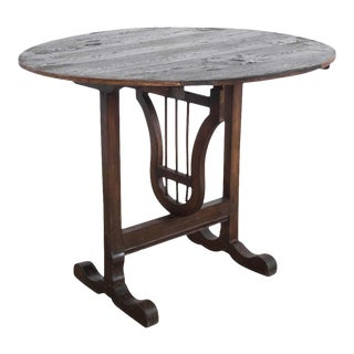 Turn of the Century French Wooden Wine Table For Sale