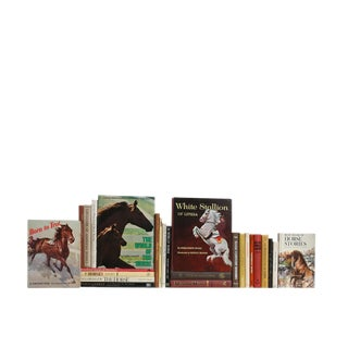 The Mid-Century Equestrian Decorative Books - Set of 25 For Sale