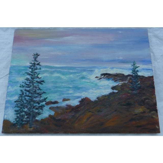 Mid Century Ocean View Painting, H.L. Musgrave - Image 2 of 6
