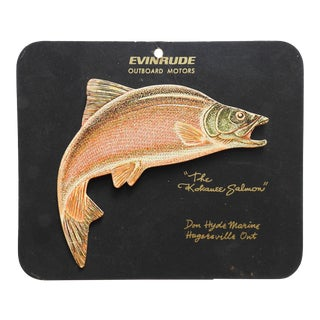 Mid Century Evinrude Motors Fishing Sign For Sale