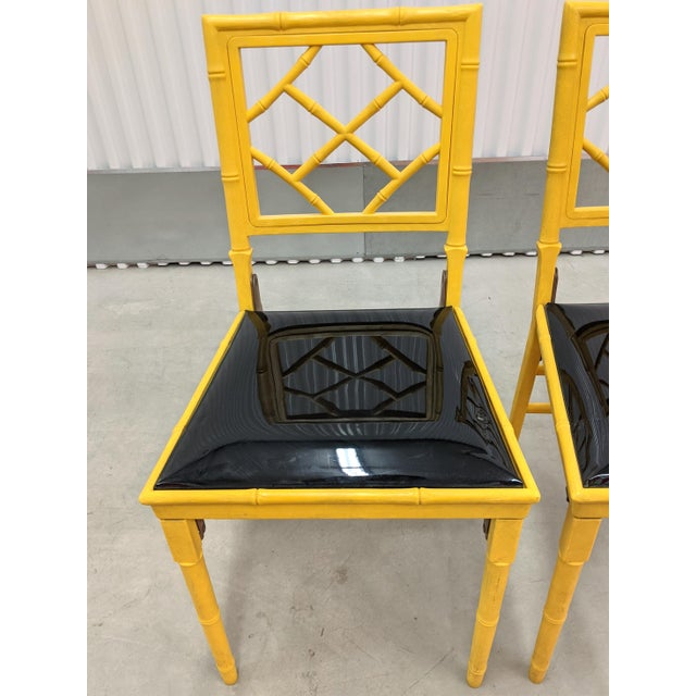 1970s Hollywood Regency Faux Bamboo Folding Chairs - a Pair For Sale - Image 4 of 11