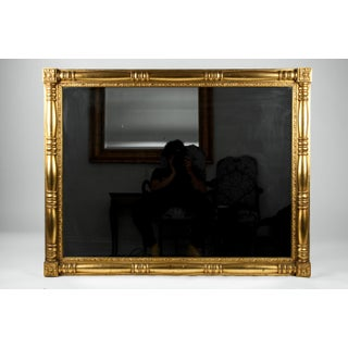Gilded Wood Framed Mantel or Fireplace Hanging Wall Mirror Preview