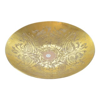 Dorothy Thorpe Gold Paisley Bowl