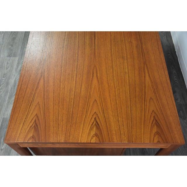 """1950s Teak Executive """"Diplomat"""" Desk by Finn Juhl For Sale - Image 5 of 13"""