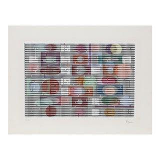 Double Metamorphosis, Kinetic OP Art Screenprint by Agam For Sale