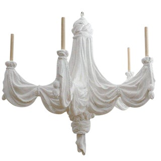 Sirmos Trompe l'Oeil Plaster Chandelier For Sale