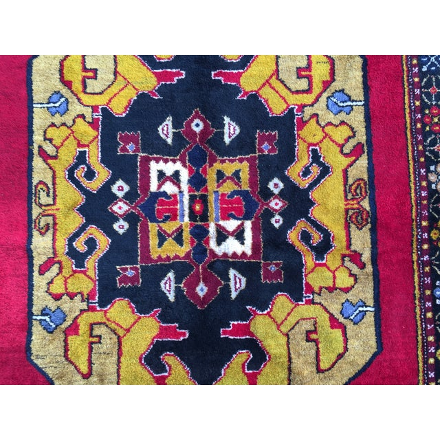 Vintage Anatolian Hand Knotted Rug - 5′1″ × 11′4″ For Sale - Image 7 of 7