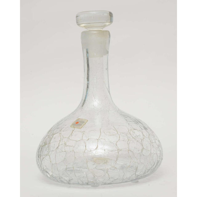 Crackled Glass Blenko Modern Decanter - Image 2 of 10