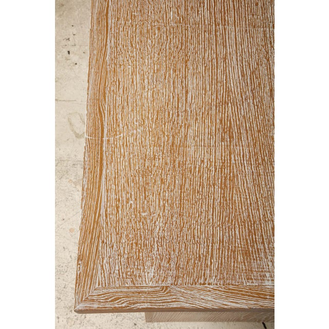 French Cerused Oak Desk For Sale - Image 10 of 11