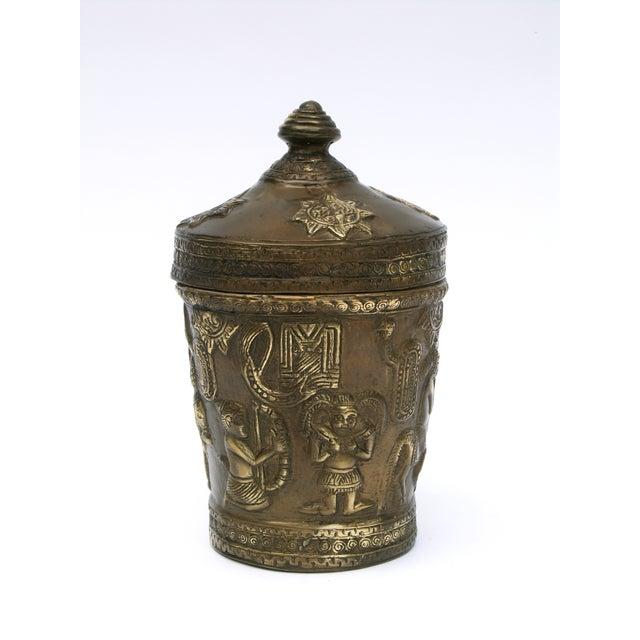 Decorative Indonesian Bronze Jar - Image 6 of 6