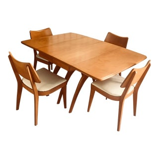 Mid Century Modern Heywood Wakefield Dining Set - 5 Pieces For Sale