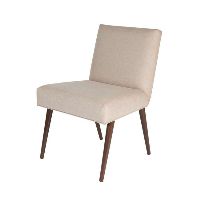 Mid-Century Modern Customized Set of 6 Sheppard Dowel Leg Side Dining Chairs For Sale - Image 3 of 5