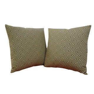 """22"""" Luxe Fretwork Pillows - A Pair"""