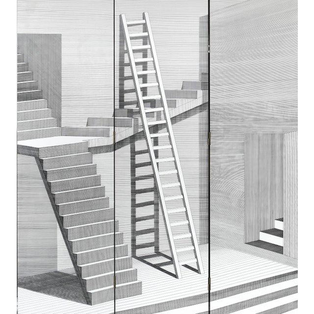 """Piero Fornasetti for Fornasetti-Milano, """"Scaletta"""" Folding Screen, Signed 2001 For Sale In Miami - Image 6 of 13"""