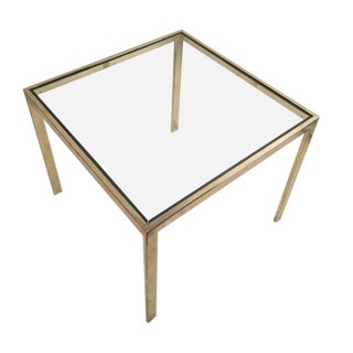1980s Hollywood Regency Milo Baughman for DIA 'Flat Bar' Occasional Table For Sale