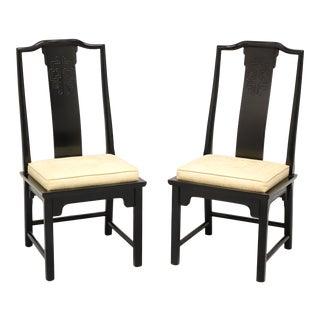 Century Chin Hua Raymond Sobota Asian Chinoiserie Dining Side Chairs - Pair B For Sale