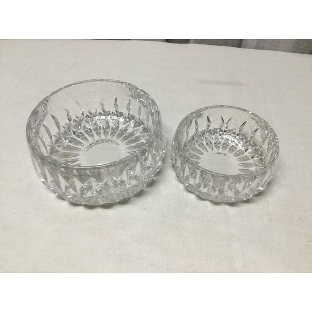 Mid 20th Century Mid 20th Century Lead Crystal Candy Dishes - a Pair For Sale - Image 5 of 5