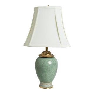 1930s Celadon Lamp For Sale