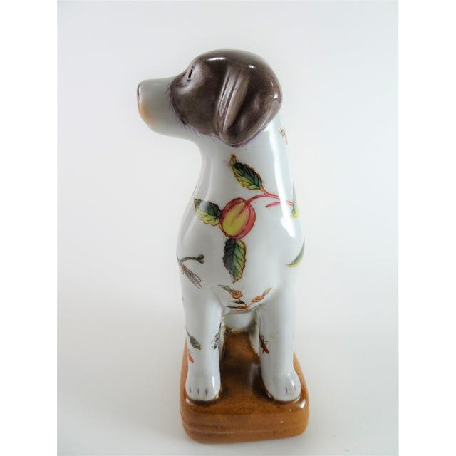 Chinoserie Porcelain Dog Statue For Sale - Image 4 of 12