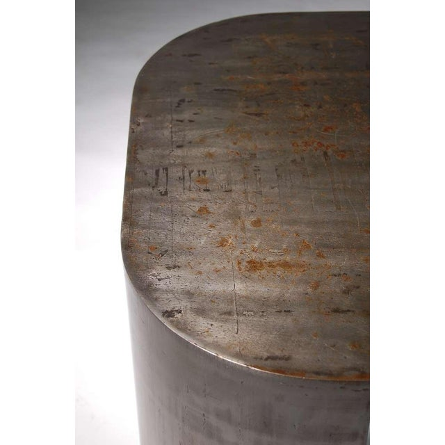 "Vintage Mid Century Luten Clarey Stern Custom-Made ""Andrew"" Steel Low Table For Sale - Image 9 of 10"