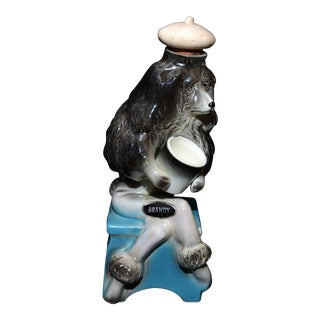 Hickok French Poodle Brandy Decanter For Sale