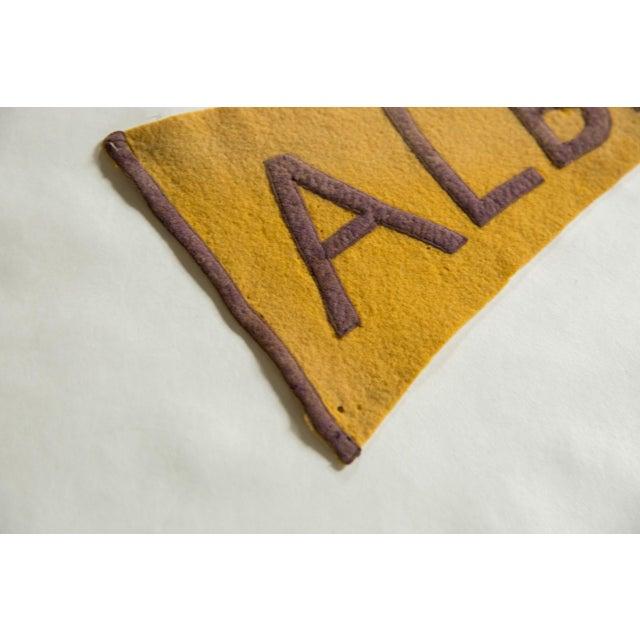 Antique Albany Felt Flag Pennant
