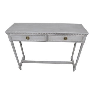 20th Century Vintage Swedish Gustavian Style Console Table For Sale