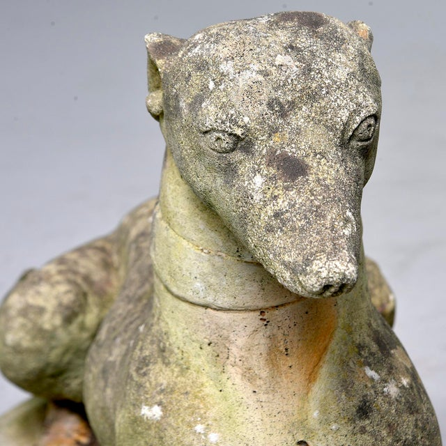 Vintage Stone Garden Whippets - a Pair For Sale - Image 12 of 13