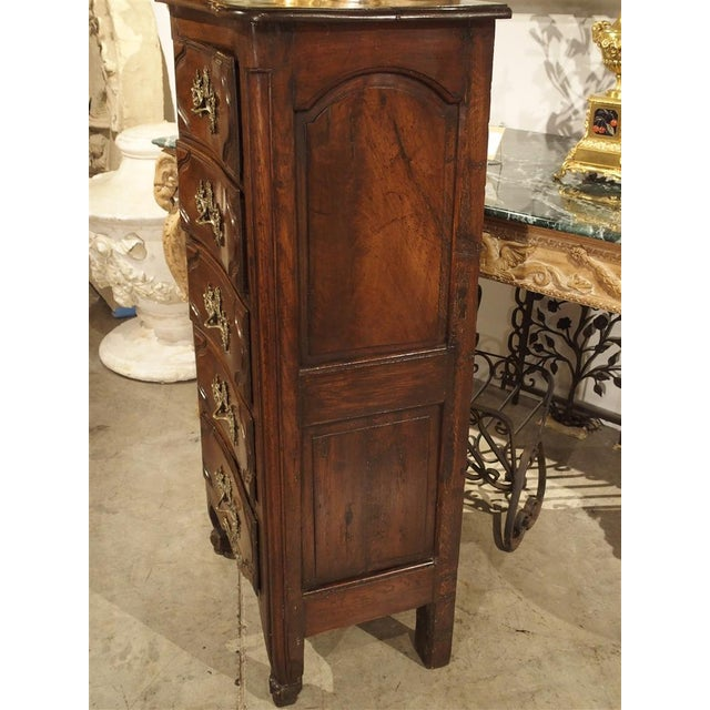 Late 18th Century 18th Century Walnut and Oak Chiffonier Chest of Drawers from France For Sale - Image 5 of 11