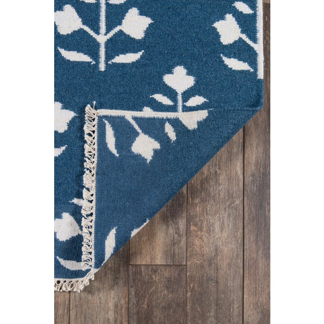 "Contemporary Erin Gates Thompson Grove Navy Hand Woven Wool Area Rug 7'6"" X 9'6"" For Sale - Image 3 of 7"