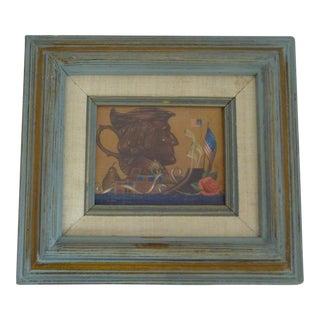 Miniature Folk Art Painting of George Washington