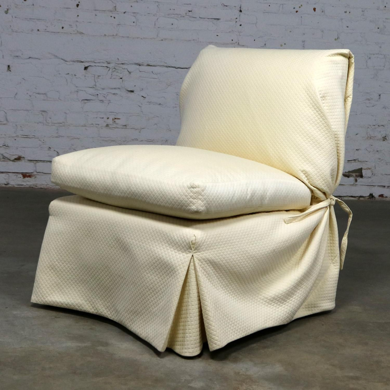 Angelo Donghia Slipcovered Slipper Chair For Sale   Image 13 Of 13