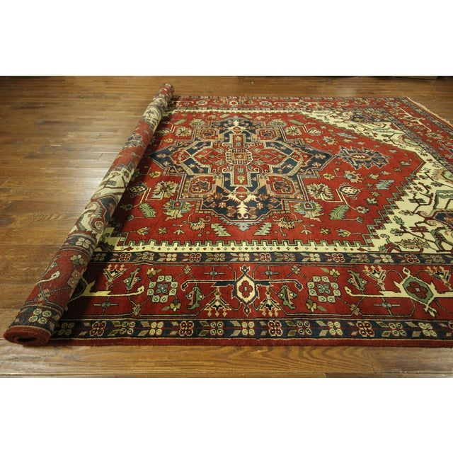Heriz Oriental Hand Knotted Area Rug - 9'10 x 14' - Image 10 of 10