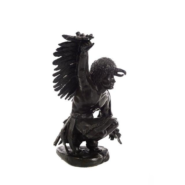 Bettie Moran - Raven Dancer - Native American Indian Bronze Sculpture For Sale - Image 5 of 11