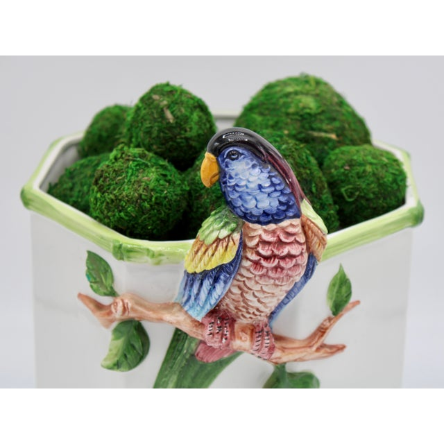 1960s Large Italian Ceramic Parrot Planter For Sale - Image 12 of 13