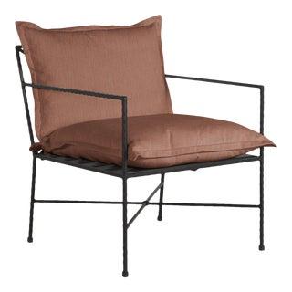 Summer Classics Italia Lounge in Linen Terracotta For Sale