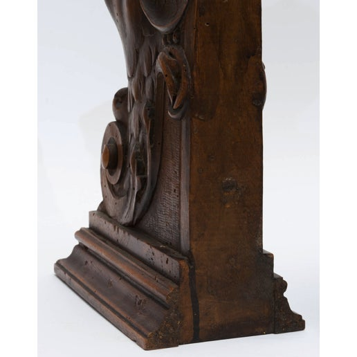 Mid 19th Century Figurial Walnut Carved Bookends - a Pair For Sale - Image 5 of 11
