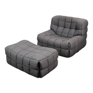 "Michel Ducaroy ""Kashima"" Chair & Ottoman For Sale"