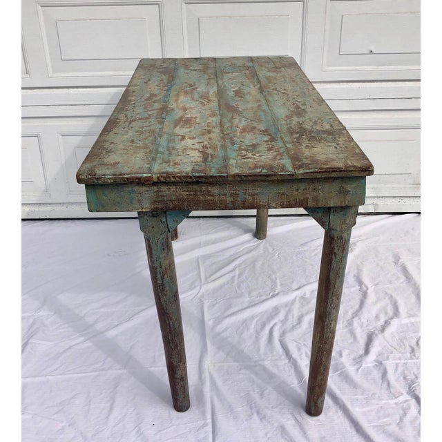Anglo-Indian Blue Indian Wedding Table For Sale - Image 3 of 8