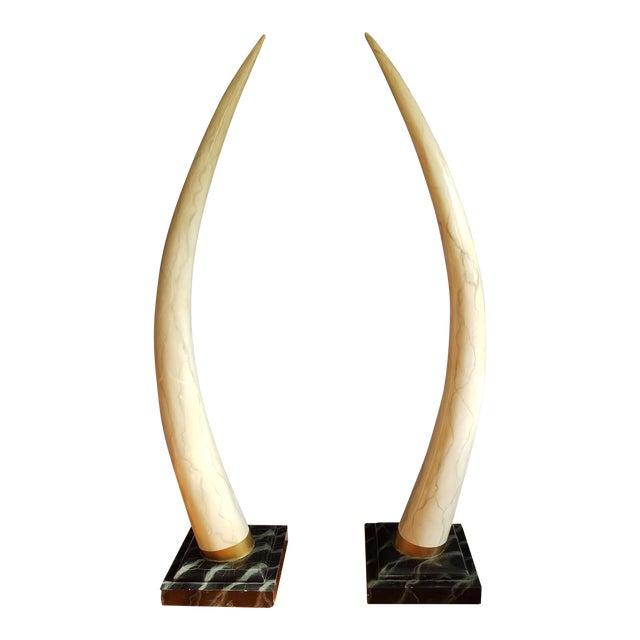 Maitland Smith Faux Elephant Tusks A Pair Chairish