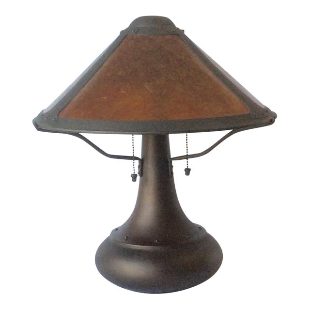 Micah Lamp Company Coppersmith #006 Onion Table Lamp by Dirk Van Erp For Sale