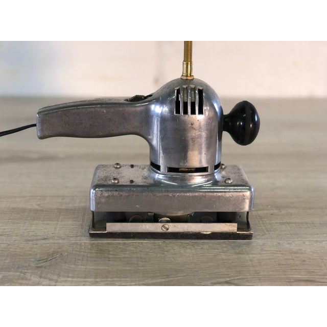 Vintage Recycled Aluminum Sander Table Lamp For Sale - Image 9 of 12