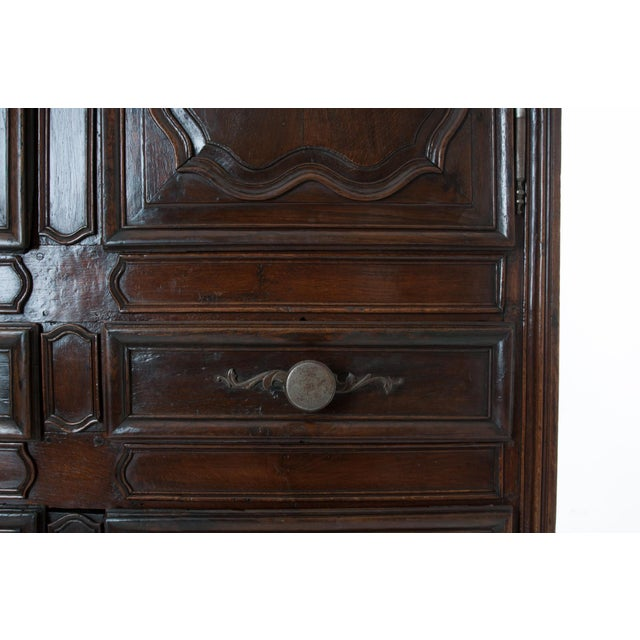 Brown French 18th Century Dark Oak Homme Debout / Cupboard For Sale - Image 8 of 10