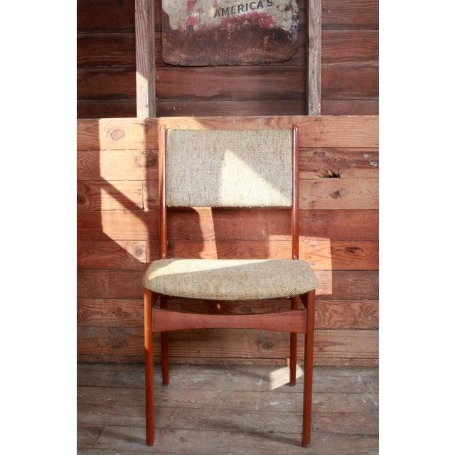 Vintage Teak Danish Modern Dining Chairs - Set of 4 - Image 5 of 9